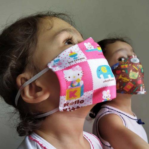 Kids Cotton Face Mask - Set of 5