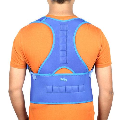 Vkare Magnetic Posture Corrector Spine Brace - Neoprene - Blue