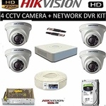 Hikvision 4 Channel CCTV Camera Complete DVR Set
