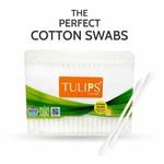 Tulips Cotton Buds 100 Sticks - Flat Box