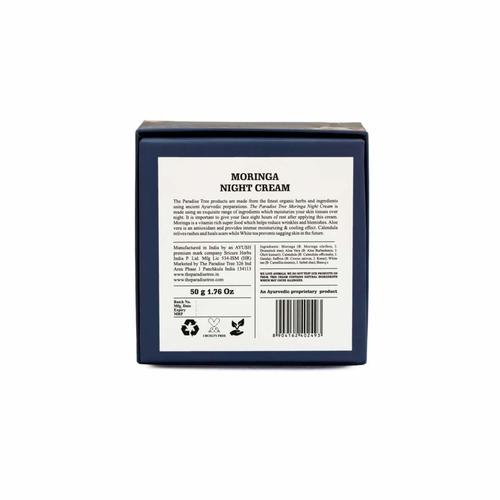 The Paradise Trees Herbal Moringa Night Cream  Natural, Certified Ayurvedic With 5 Active Herbs, 50 g