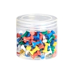 RQuick Push Pins, Steel Point, 100-Count, Assorted Colours