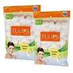 Tulips White Cotton Balls - 50 pcs