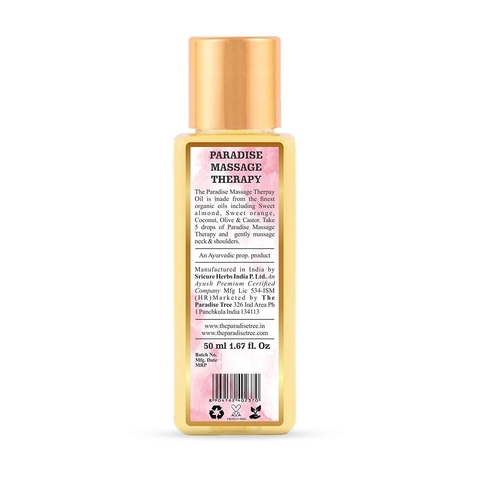 The Paradise Trees Herbal Massage Therapy oil 50ml  For dry skin and stressed shoulders