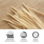 Tulips Wooden Toothpicks 250 Sticks Pack of 4