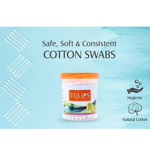 Tulips Cotton Buds 100 Sticks - Jar pack