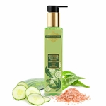 The Paradise Trees Herbal Cucumber Aloe Vera & Pink Himalayan Salt Face cleanser  Low foaming SLS free face cleanser for dry skin