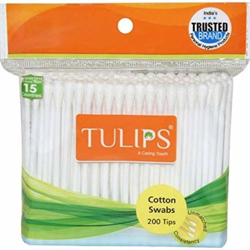 Tulips Cotton Buds 100 Sticks 1 pack