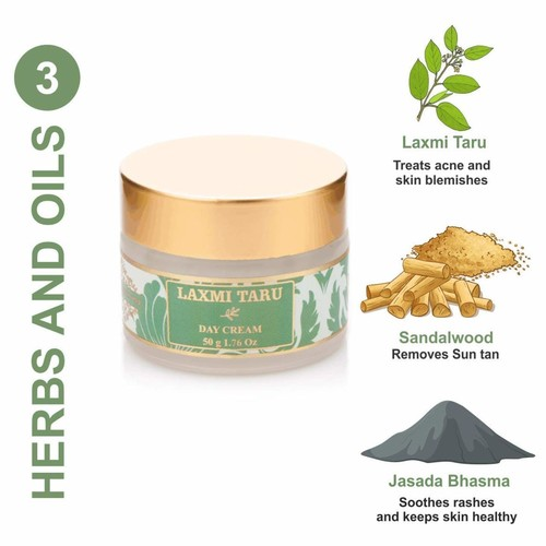 The Paradise Trees Herbal Laxmi Taru Day Cream  Natural, Certified Ayurvedic With 3 Active Herbs, 50 gm