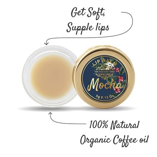 The Paradise Trees Mocha Lip Balm for rejuvenating dry chapped lips 5g