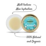 The Paradise Trees Coconut milk Lip Balm with Organic Bees Wax for Soft Supple lips 5g