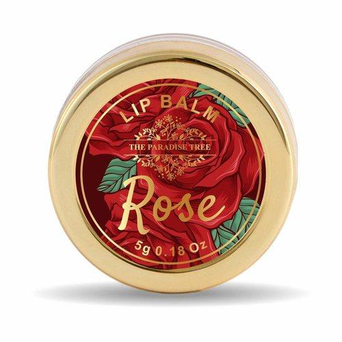 The Paradise Trees Vegan Rose Petals Lip Balm with Pink Tint 5g