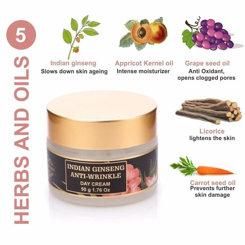 The Paradise Trees Herbal Indian Ginseng Anti-Wrinkle Cream, 50 G