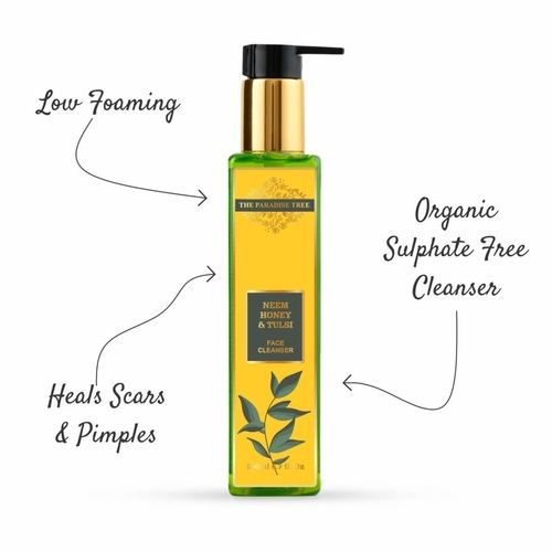 The Paradise Trees Herbal Neem Tulsi & Honey Face cleanser  Low foaming SLS free face wash for damaged skin