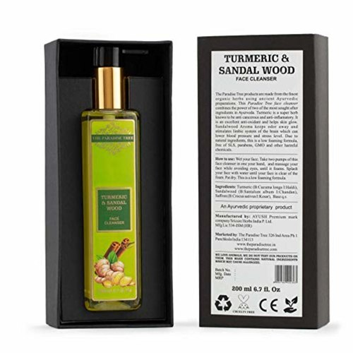The Paradise Trees Herbal Turmeric & Sandalwood Face cleanser  Low foaming SLS free for delicate skin