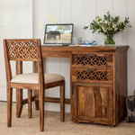Sheesham Wood Writing Study Table for Home and Office with Chair  Study Desk  Natural Honey Finish