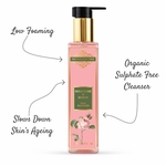 The Paradise Trees Herbal Gold Rose & Honey face cleanser  Low foaming SLS free face cleanser for Oily skin