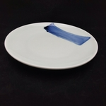 China Blue Brush Stroke Round Plate - 210mm