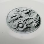 Stone Carved Flower Dessert PlateBowl Set - L 27cm Round Plate 4pcs Set