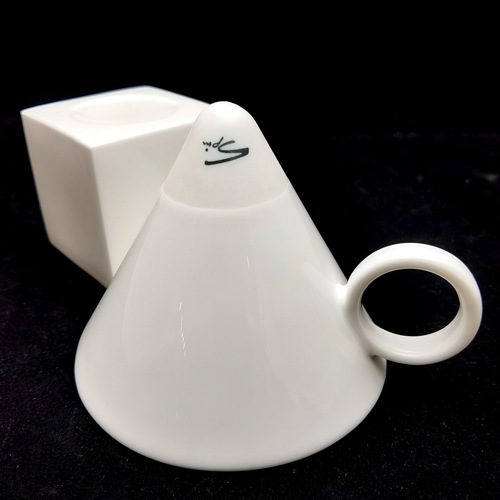 Reinforced Bone China Geometric-Shaped Coffee Cups - Cone Shaped