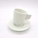 Green White Slid-Base Coffee Cups - Small
