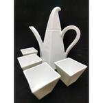 Green White Twisted Square Tea Set