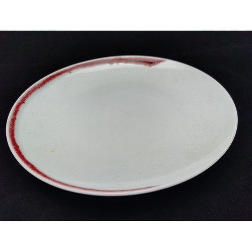 Under-glaze Red Basic Round Plates - (270mm)