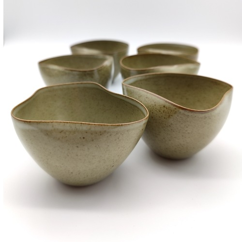 Ru-Kiln Style Arbitrarily-Shaped Tea Cup Set