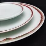 Under-glaze Red Basic Round Plates - 210mm