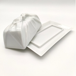 Green White Cloth-Wrapped Butter Case