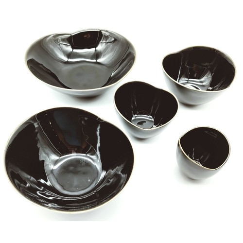 Black Glaze Rose Layered Bowls-2nd Ed
