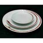 Under-glaze Red Basic Round Plates - 150mm