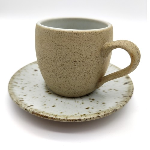 White Glaze Pottery Coffee Cups-Large