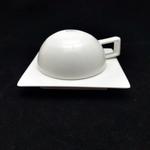 Reinforced Bone China Geometric-Shaped Coffee Cups - Semi Spherical