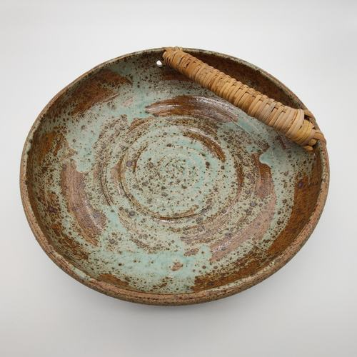 Fruit Bowls With Bamboo Handle 26CM - Pottery
