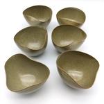 Ru-Kiln Style Arbitrarily-Shaped Tea Cup Set