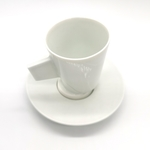Green White Slid-Base Coffee Cups - Large