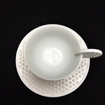 Green White Jade Pendant Coffee Cup