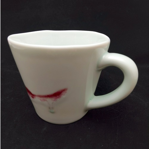 Under-glaze Red Handmade Mug - Large
