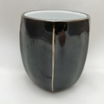 Black & White Six-Ridge Tea Cup Each
