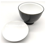Black & White Soup Bowl With Lid