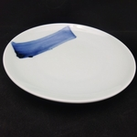 China Blue Brush Stroke Round Plate - 270mm