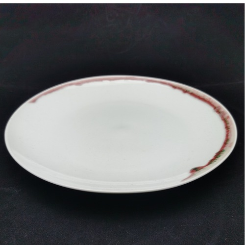 Under-glaze Red Basic Round Plates - 210mm