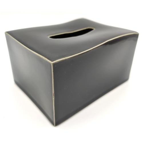 Black Glaze Tissue Paper Case
