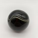 Black & White Tai-Chi Miniature Vases-Black Glaze