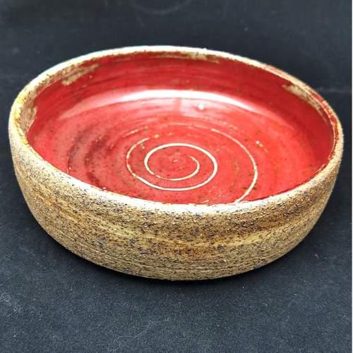 Handmade Tapas Pottery Bowl-Red