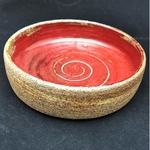 Handmade Tapas Pottery Bowl-Red