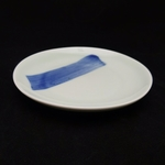 China Blue Brush Stroke Round Plate - 150mm