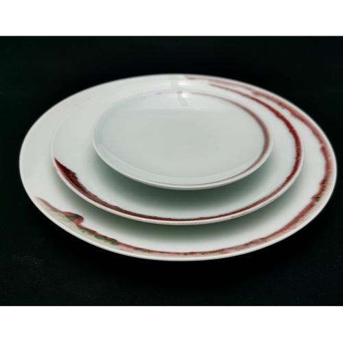 Under-glaze Red Basic Round Plates - 270mm