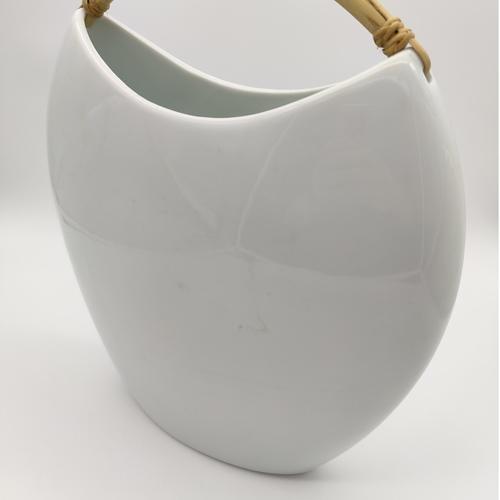 Green White Shoulder Bag Vase